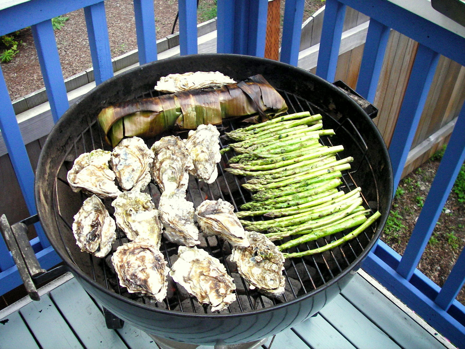 Seafood on the Grill: Oysters and Saba