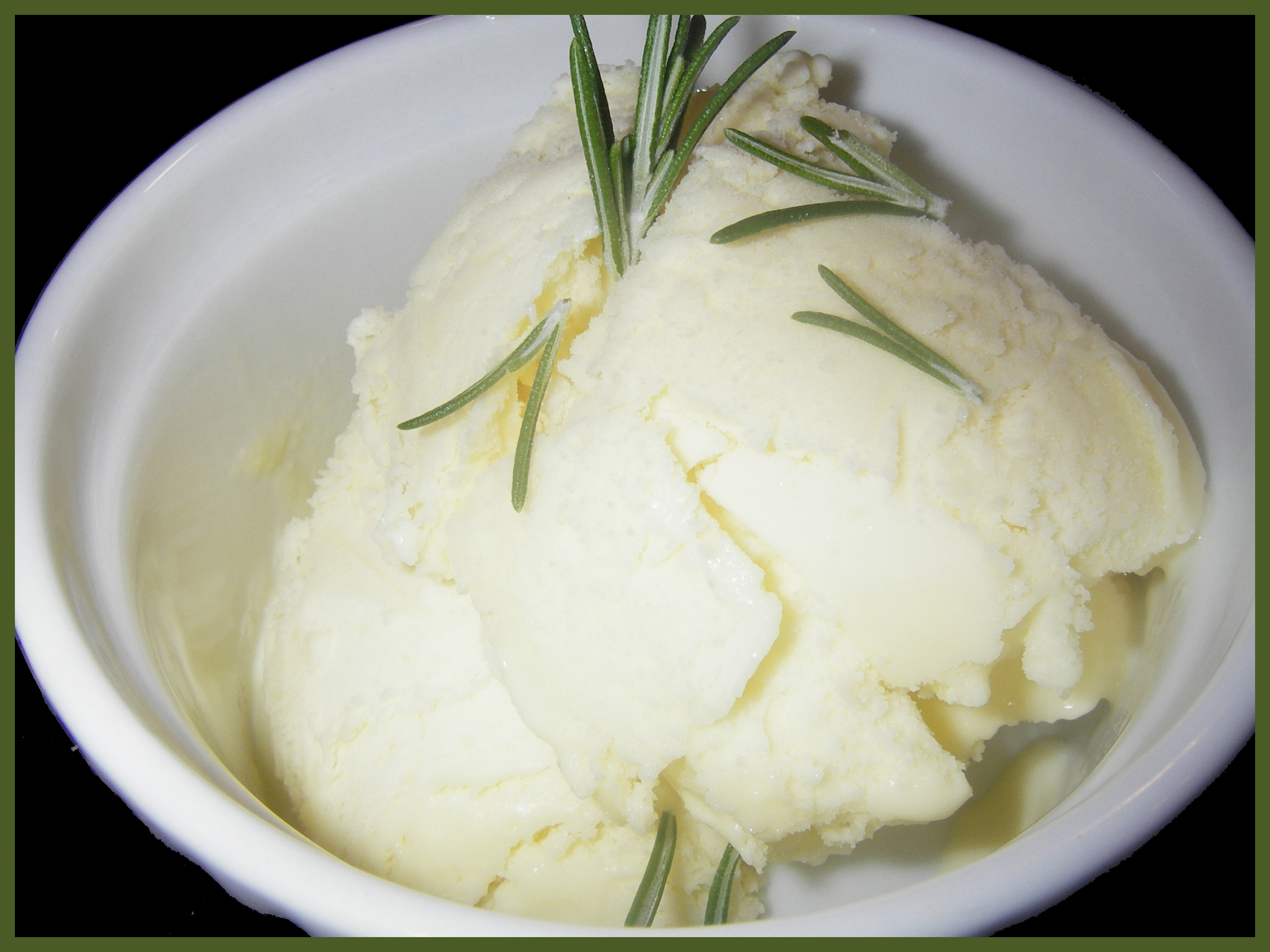Brie Cheese Ice Cream with Rosemary