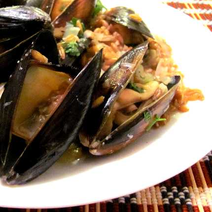 Taylor Shellfish Mussels and Bluebird Grains Farrotto for $4 Each