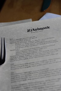 Hitchcock Restaurant Menu