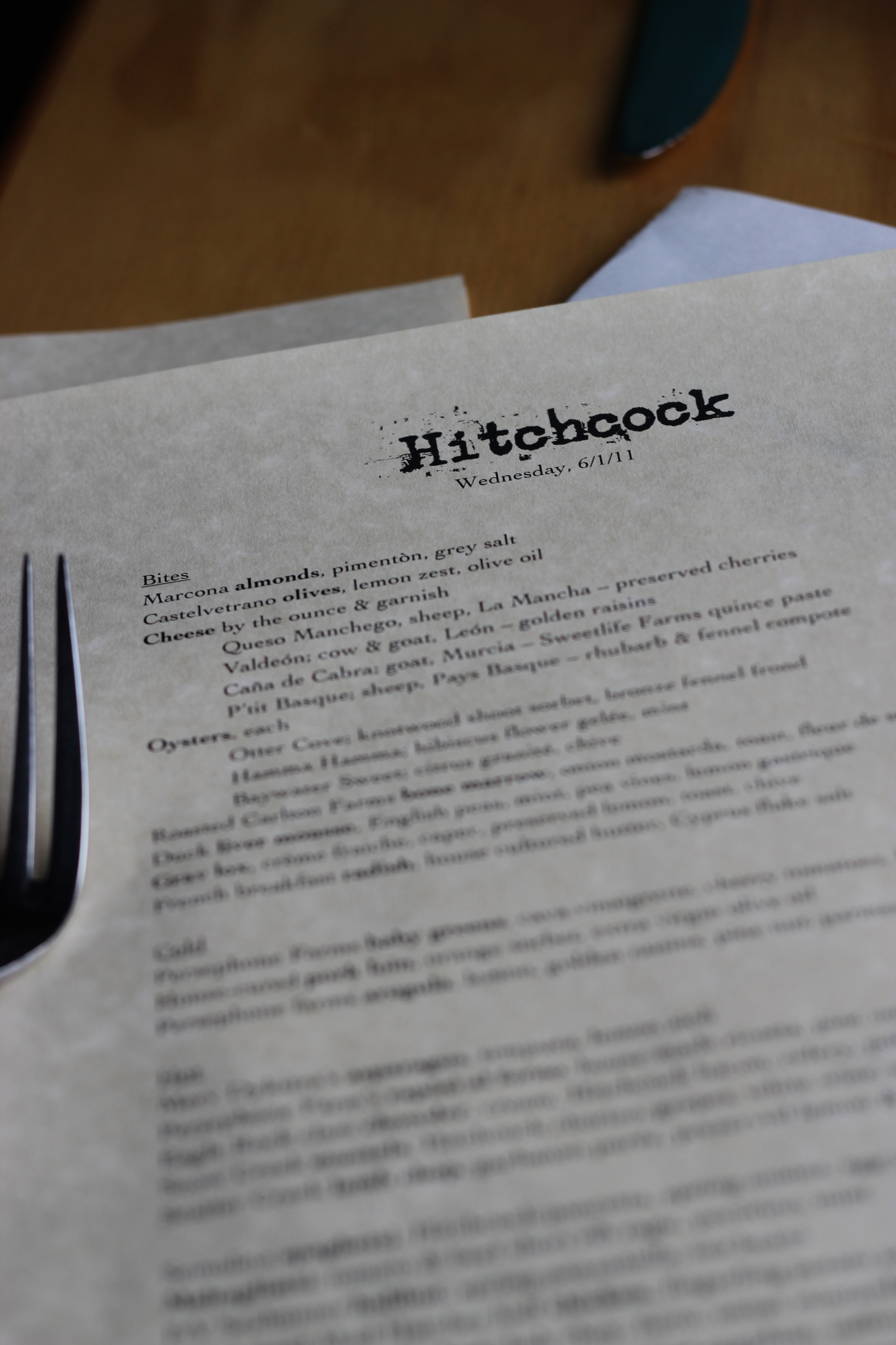 Wordless Wednesday: Hitchcock Restaurant on Bainbridge Island